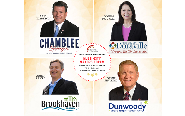 Chamblee Chamber's Breakfast – Multi-City Mayors Forum