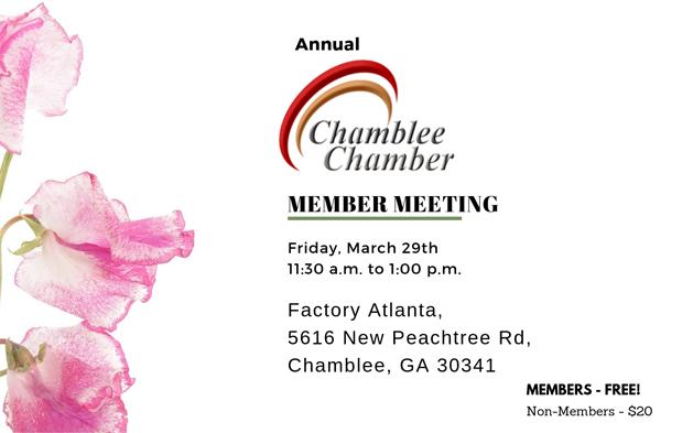 Chamblee Chamber Member Meeting