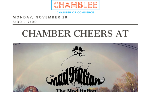 """Chamber """"CHEERS"""" at The Mad Italian!"""